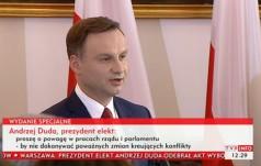 Prezydent elekt Andrzej Duda odebrał uchwałę o wyborze na prezydenta