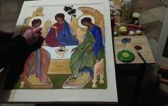W Przemyślu młodzi pielgrzymi uczyli się malowania ikon