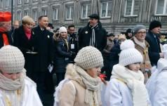 Prezydent wraz z małżonką wziął udział w warszawskim orszaku Trzech Króli