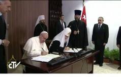 Kuba: papież i patriarcha podpisali Wspólną Deklaracje  katolicko-prawosławną