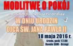 """""""Gołębie pokoju"""" na Campus Misericordiae w dniu urodzin Jana Pawła II"""