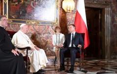 Prezydent Duda przywitał papieża na Wawelu
