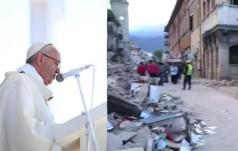 Papież Franciszek modli się za ofiary trzęsienia ziemi we Włoszech