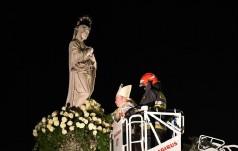 Białe kwiaty dla Maryi Niepokalanej