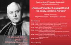 """Konferencja pt. """"Prymas Polski kard. August Hlond – na straży sumienia narodu"""""""