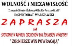 """""""Żołnierze WiN powracają"""" - zaproszenie"""