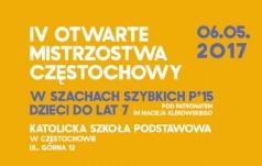 IV otwarte mistrzostwa Częstochowy w szachach szybkich