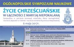 Częstochowa: sympozjum ogólnopolskie o życiu chrześcijańskim w łączności z Maryją Niepokalaną