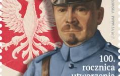 Błękitny Generał na znaczku pocztowym