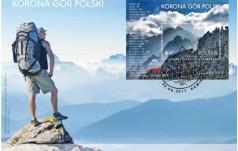 Korona Gór Polski na znaczku