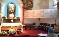 Replika Całunu u Matki Bożej Ostrobramskiej