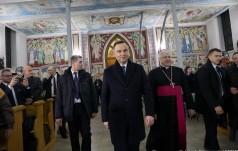 Ukraina: prezydent Andrzej Duda spotkał się z Polonią w Charkowie