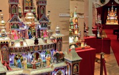 Mieszkańcy i turyści podziwiają szopki w krakowskich kościołach