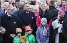 Para Prezydencka na Orszaku Trzech Króli w Skoczowie