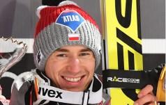 Kamil Stoch na podium Mistrzostw Świata