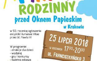 Kraków: Piknik Rodzinny przed Oknem Papieskim