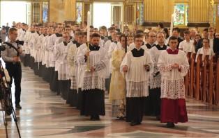 Msza św. pontyfikalna w bazylice w Licheniu