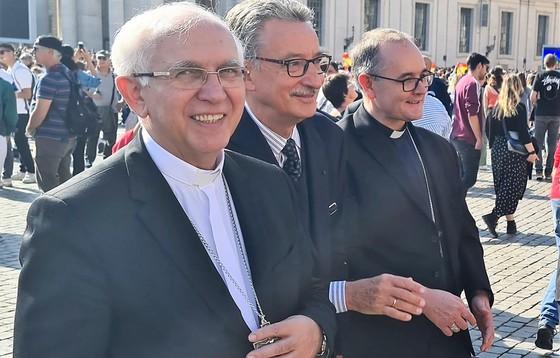Abp Wacław Depo i bp Andrzej Przybylski w Watykanie