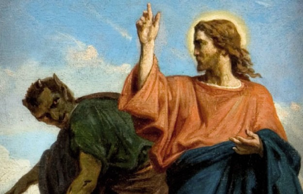 Znalezione obrazy dla zapytania: Jezus był kuszony przez Szatana, aniołowie zaś Mu usługiwali