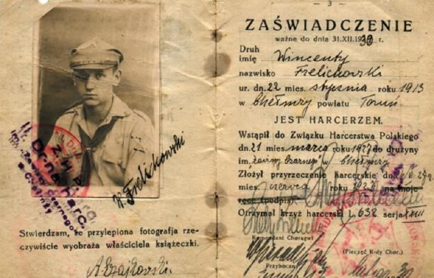 Legitymacja bł. Stefana Wincentego Frelichowskiego