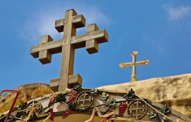 Krzyż na Bazylika Grobu Bożego w Jerozolimie