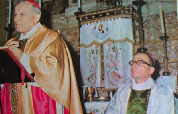 Bp Deskur koncelebruje Mszę św. z kard. Wojtyłą