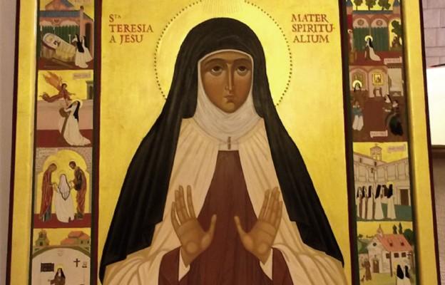 Ikona św. Teresy od Jezusa – Matki Prowadzących Życie Duchowe