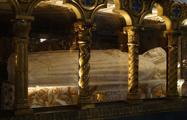 Grób św. Katarzyny w rzymskiej bazylice Santa Maria Sopra Minerva, niedaleko Piazza Navona
