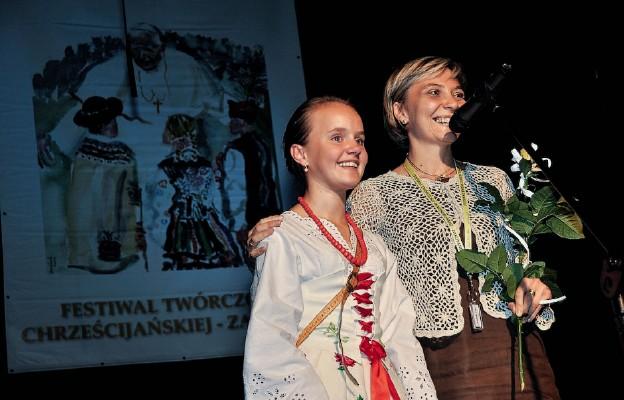 Joanna Staszak z laureatką Festiwalu Twórczości Chrześcijańskiej w Zakopanem
