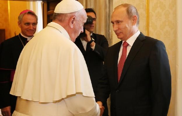 Papież Franciszek przyjął 10 czerwca2015 r. prezydenta Rosji Władimira Putina