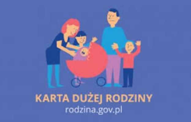 Karta Dużej Rodziny dla rodziców co najmniej trójki dzieci