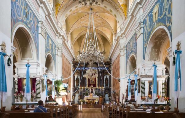 Kościół w Rudkach, gdzie znajduje się mauzoleum Fredrów