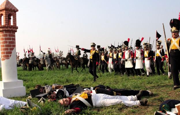 Adam Czartoryski dowodzi polskim atakiem w bitwie pod Raszynem