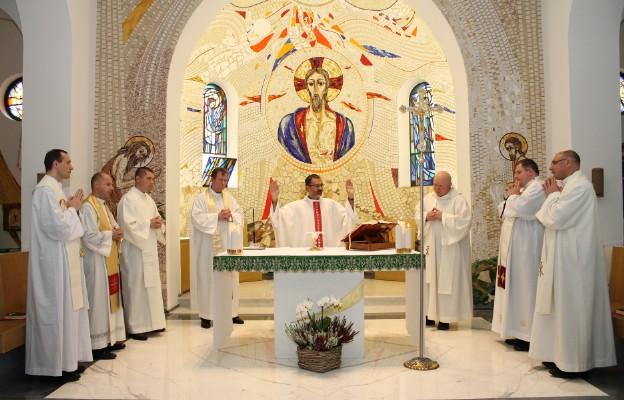 Podczas Mszy św. w Papieskim Kościelnym Instytucie Polskim