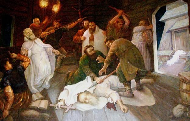 Śmierć Benedykta, Jana, Mateusza, Izaaka i Krystyna, pierwszych męczenników Polski obraz umieszczony w kościele opactwa Kamedułów w Bieniszewie