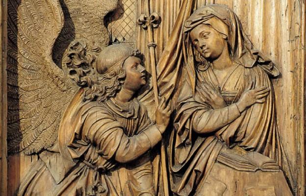 """Zwiastowanie"""" – Ołtarz z Bergheim (Muzeum Unterlinden w Colmar, XVI wiek)"""