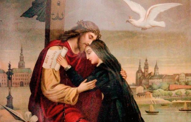 Obraz alegoryczny – Chrystus z cierpiącą Polską... (z klasztoru Dominikanów w Jarosławiu)