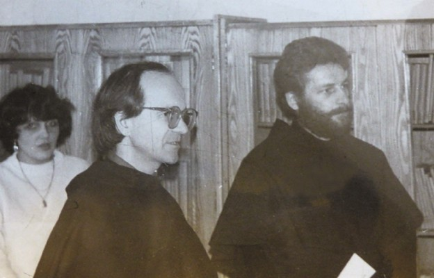 O. Zbigniew (po prawej) i o. Józef Szańca, przełożeni Niższego Seminarium Duchownego w Legnicy