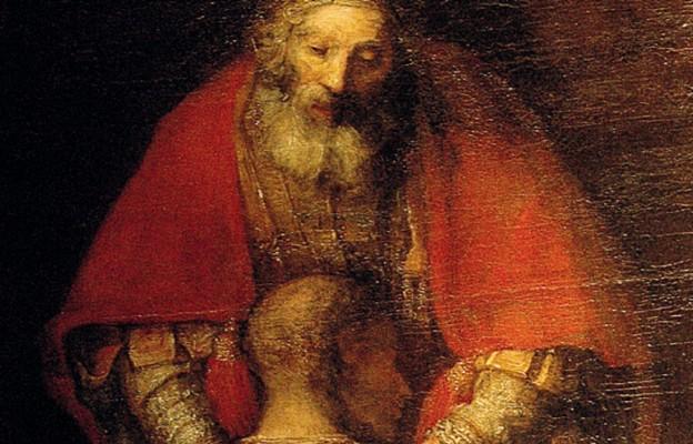 "Rembrandt Harmenszoon van Rijn, ""Powrót syna marnotrawnego"" – fragment (XVII wiek)"