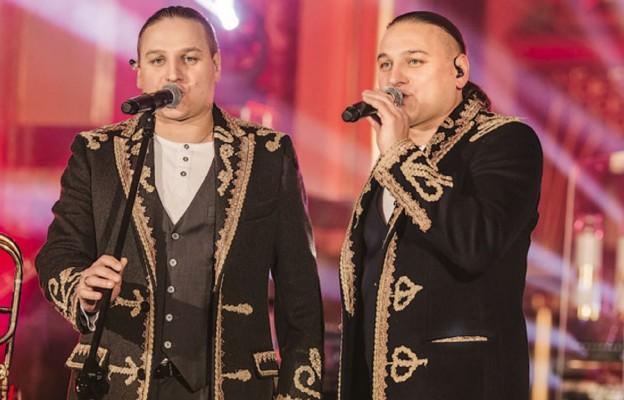Łukasz i Paweł Golcowie na koncercie w Sosnowcu-Pogoni