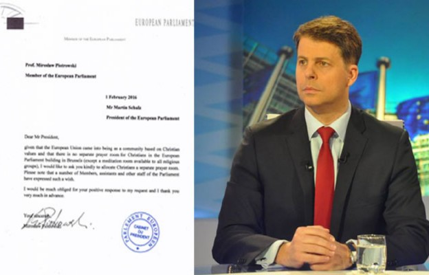 Polski europoseł apeluje do przewodniczącego PE Martina Schulza o utworzenie katolickiej kaplicy w Parlamencie Europejskim