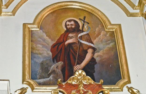 Wizerunek św. Jana Chrzciciela w oltarzu głównym