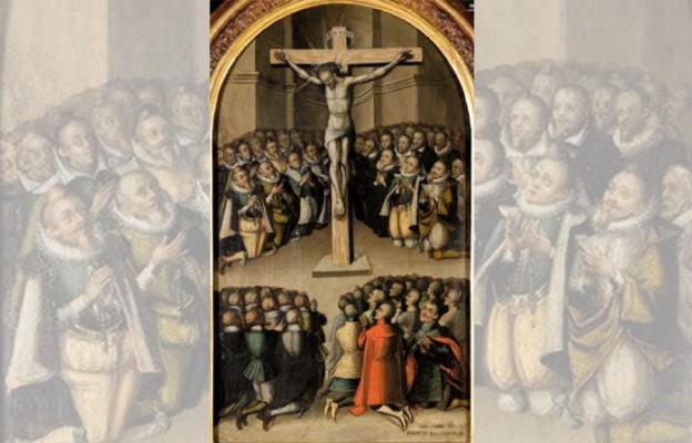Adoracja krucyfiksu przez króla Zygmunta III Wazę
