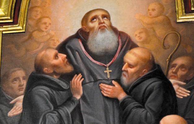 Obraz św. Benedykta w głównym ołtarzu