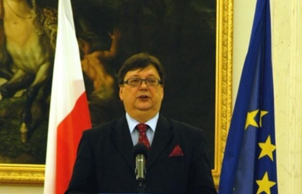 Andrzej Urbański przemawia w Pałacu Prezydenckim (2006)