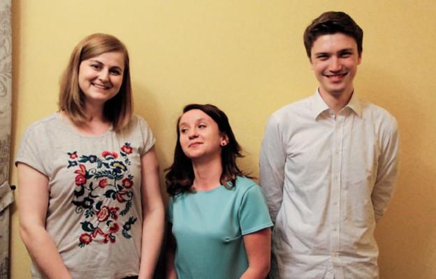 Od lewej: Karolina, Daria i Adam