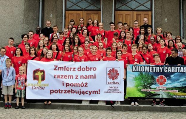 Wolontariusze i pracownicy Caritas Diecezji Zamojsko-Lubaczowskiej zmierzyli dobro