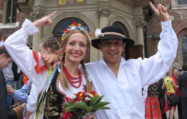 Paula Szydłowska i Sylwester Gaik z Komitetu Organizcyjnego ŚDM Kraków 2016