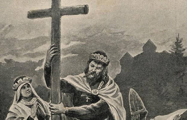 """Mieszko I zaprowadza wiarę chrześcijańską w Polsce, """"Biesiada Literacka"""" 1906, nr 5"""