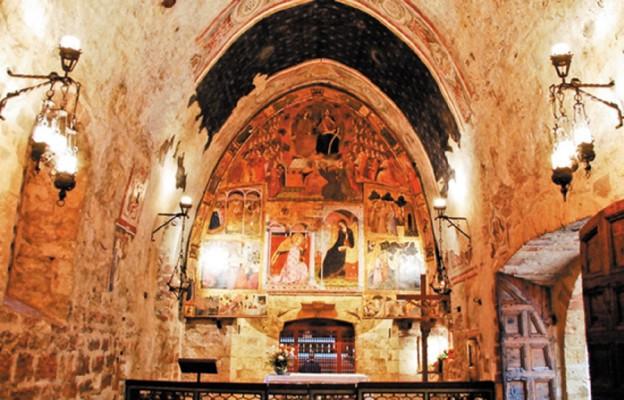 Wnętrze kaplicy Porcjunkuli